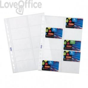 Favorit  buste a foratura universale porta cards - 22x30 cm - trasparente (conf.10)