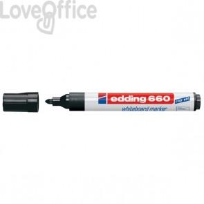 Pennarelli per lavagna nero - Edding 660 - 1,5-3 mm (conf.10)