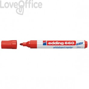 Pennarello per lavagna rosso - Edding 660 - 1,5-3 mm