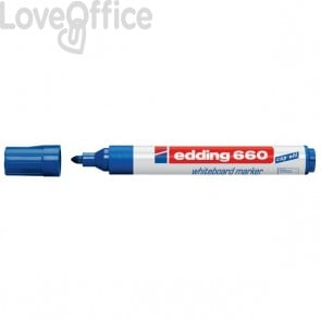Pennarello per lavagna blu - Edding 660 - 1,5-3 mm