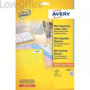 Mini etichette Avery - Inkjet - bianco - 38,1x21,2 mm - 65 et/ff - J8651-25 (conf.25)