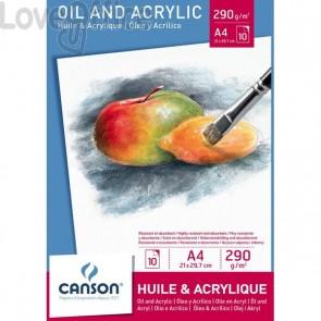 Blocco cartoncini per olio e acrilico Canson - A4 - 290 g/mq