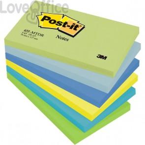 Post-it® Notes Dream - tinta unita - 100 - 76x127 mm - verde,blu - 655-MTDR (conf.6)
