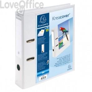 Raccoglitore a leva personalizzabile Kreacover® Exacompta - Dorso 7 - 28x32 cm - bianco