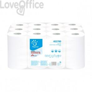 Asciugamani ad estrazione centrale Papernet - 2 veli - 21,4 x 12,5 cm - 5,1 cm - 403780 (conf.12)