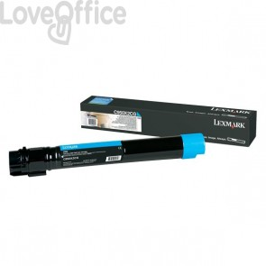Originale Lexmark C950X2CG Toner altissima resa C950 ciano
