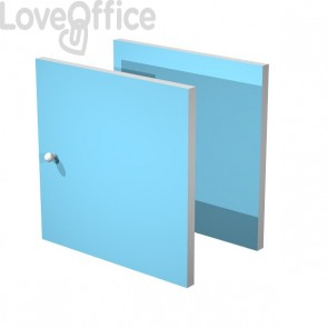 Set due antine Libreria caselle Maxicube Artexport - 32,2x32,1x1,6 cm - azzurro - 2a MaxC/A (conf.2)