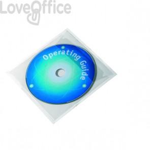 Buste adesive porta CD/DVD Durable - Aletta chiusura lato superiore (conf.100)