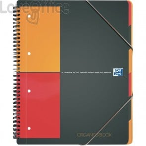 Quaderno con spirale ORGANISERBOOK INTERNATIONAL Oxford - A4+ - 5 mm - 80 fogli