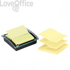 Dispenser foglietti adesivi Post-it® Super Sticky Z-Notes Millenium - giallo canary - DS440-SSCYL-EU (incluso 1 blocchetto di foglietti)