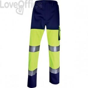 Pantalone altavisibilità Delta Plus - giallo fluo/blu - M - PHPANJMTM