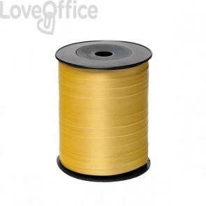Nastro in rocchetto per regali Brizzolari - liscio - 10 mm x 250 m - B.3 (ORO) (conf.4)