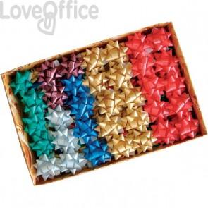Stelle adesive per pacchi regalo Brizzolari - Nastro liscio - tinta unita - 65 mm - 3100 (conf.100)