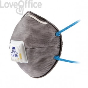 Respiratore FFP2 - Maschera 3M per polveri, fumi e nebbie - 89620 (conf.10) - 9922
