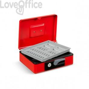 Cassetta portavalori Deluxe - 197x154x80 mm - rosso - 3413RO