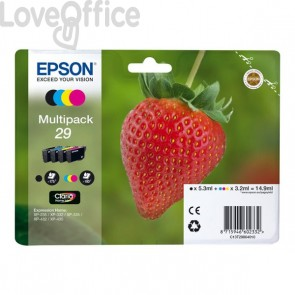 Originale Epson C13T29864010 Multipack cartucce blister RS Claria Home T29/FRAGOLA - 14.9 ml  4