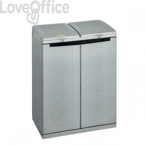 Armadio portarifiuti raccolta differenziata Terry Store Age - 68x39x88,7 cm - 1002283
