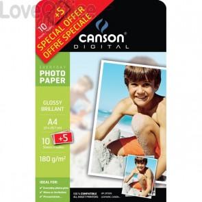 Canson carta fotografica A4 per stampanti Inkjet Everyday - lucida - 180 g/mq (conf.15)