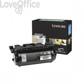 Originale Lexmark X644H11E Toner alta resa return program nero
