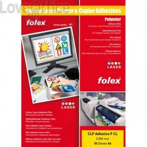 Film adesivo per stampanti Folex - A4 - bianco lucido- 2999W.050.44100 (conf.50)