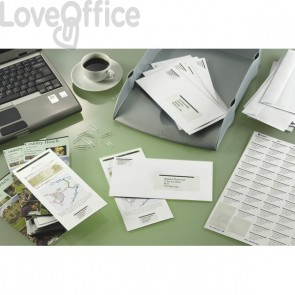 Etichette Copy Laser Prem.Tico indirizzi A4 Las/Ink/Fot ang.arrot. 99,1x34 mm - LP4W-9934 (conf.100 fogli)