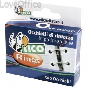 Occhielli di rinforzo Tico - 13 mm - trasparente - RINGSC-T50 (conf.500)