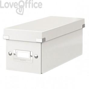 Scatola Archivio bianca per 30/60 CD in custodia Click & Store Leitz - 14,3x35,2x14,7 cm