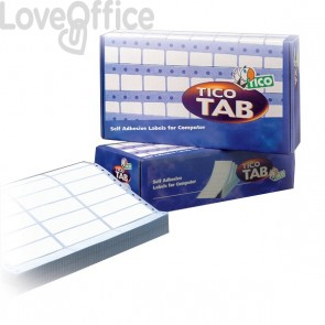 Etichette modulo continuo Tico - 1 pista - 100x23,5 mm - 12 et/ff - TAB1-1002 (conf.500 fogli)