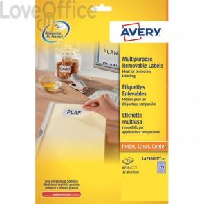 Etichette rimovibili Avery - 63,5x29,6 mm - 27 - L4737REV-25 (conf.25)