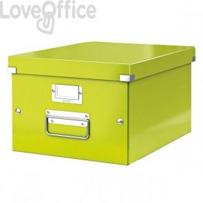 Scatola Archivio A4 media verde Click & Store Leitz - 28x20x37 cm