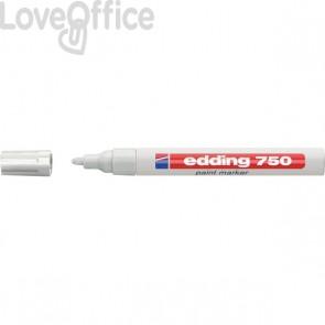 Pennarello a vernice bianco - Edding 750 - tonda - 2-4 mm