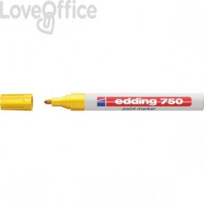 Pennarello a vernice giallo - Edding 750 - tonda - 2-4 mm