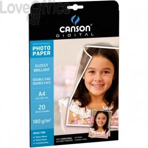 Canson Carta fotografica A3 per stampanti inkjet Performance - Glossy - 210 g/mq (conf.50)