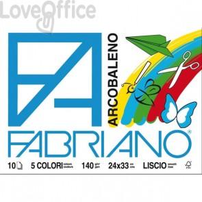 Album Fabriano arcobaleno - assortiti - 24x33 cm - 140 g/mq - 10 fogli