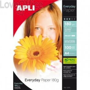Carta fotografica per stampanti inkjet Glossy Decadry - A4 - 180 g (conf.100)