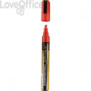 Pennarello a gesso liquido rosso Securit - 2-6 mm