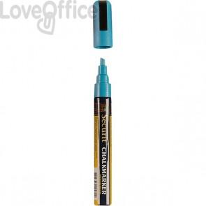 Pennarello a gesso liquido blu Securit - 2-6 mm