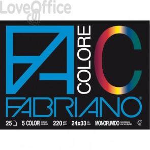 Blocco Fabriano Colore - 24x33 cm - assortiti - 220 g/mq - 25 fogli