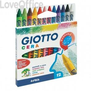 Confezione di pastelli a cera Giotto - 8,5 mm - da 3 anni in poi (conf.12)