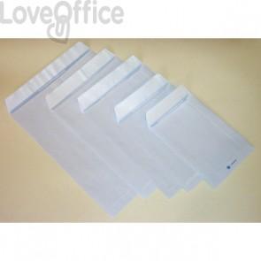 Buste a sacco con strip Pigna - bianco - 16x23 cm - 80 g/mq - strip - 0654555 (conf.20)
