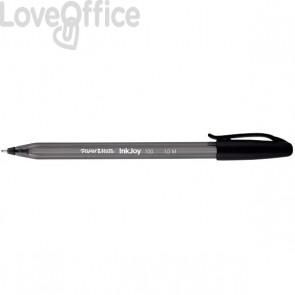 Penne a sfera Papermate InkJoy 100 - nero - medio - 1 mm - con cappuccio (conf.50)