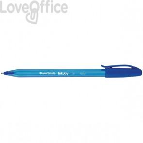 Penne a sfera Papermate InkJoy 100 - blu - medio - 1 mm - cappuccio (conf.50)