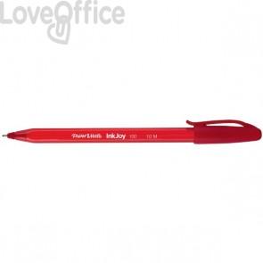 Penne a sfera Papermate InkJoy 100 - rosso - medio - 1 mm - con cappuccio (conf.50)