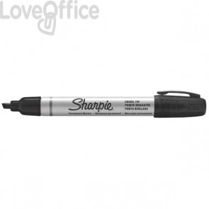 Sharpie pennarello indelebile nero - Papermate Metal Barrel - small punta scalpello - 4 mm