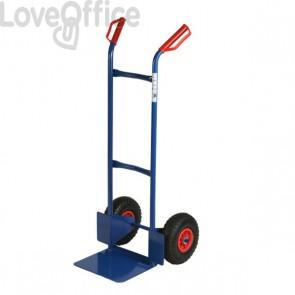 Carrello portacasse con ruote pneumatiche RelX - blu - 117x49x51 cm - 180 kg - HT200