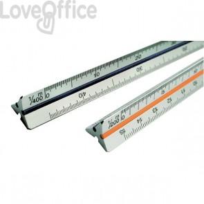 Scalimetro Tecnostyl - 30 cm - ingegneria - 1:2,5-5-10-20-50-100 - 91/D