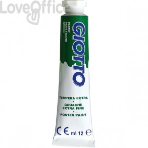 Tubetti tempera Giotto - 12 ml - verde brillante - 3520 12 (conf.6)