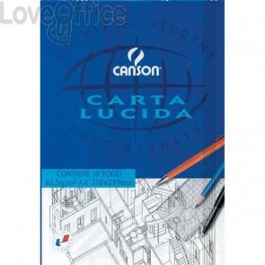 Blocco disegno carta lucida Canson - A4 - 80/85 g/mq - 10 fogli