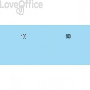 Scontrino generico a due sezioni Semper Multiservice azzurro - 100 a madre-figlia - 130x58 mm (conf.10 blocchi)