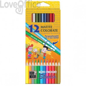 Matite colorate STUDIO Koh-i-noor - 3,3 mm - da 3 anni in poi (conf.12)